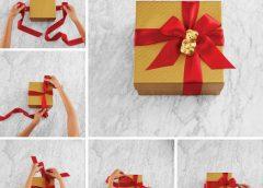 Как оригинально использовать атласную ленту для упаковки подарков